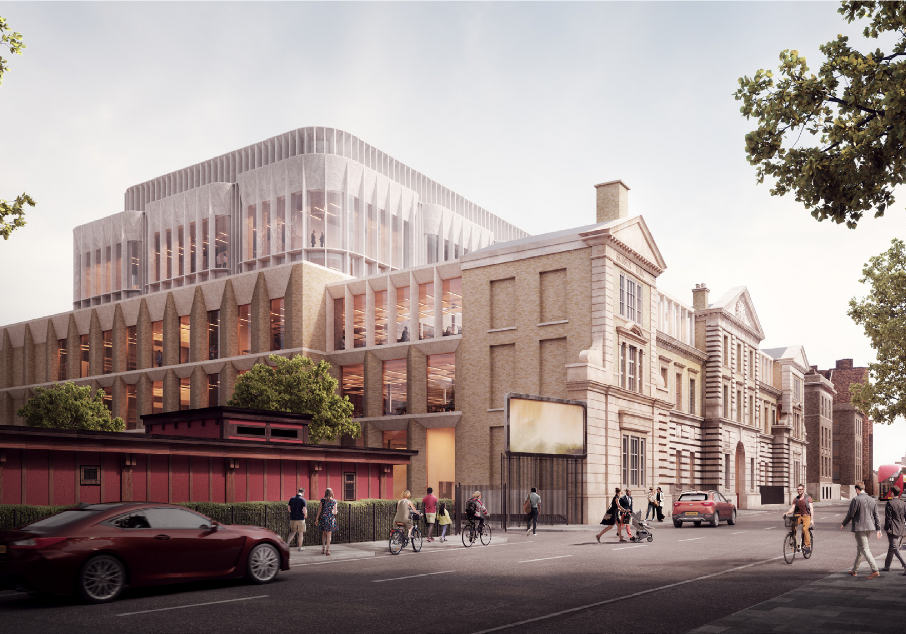 Lord And Lady Fink Artist Impression Of The Neuroscience Building From Heathcote Street